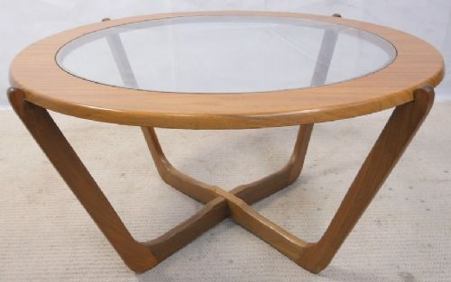 1960's Retro Teak Wood Round Coffee Table - SOLD